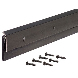"M-D 68254 36"" Bronze Anodized Door Sweeps With Drip Caps"