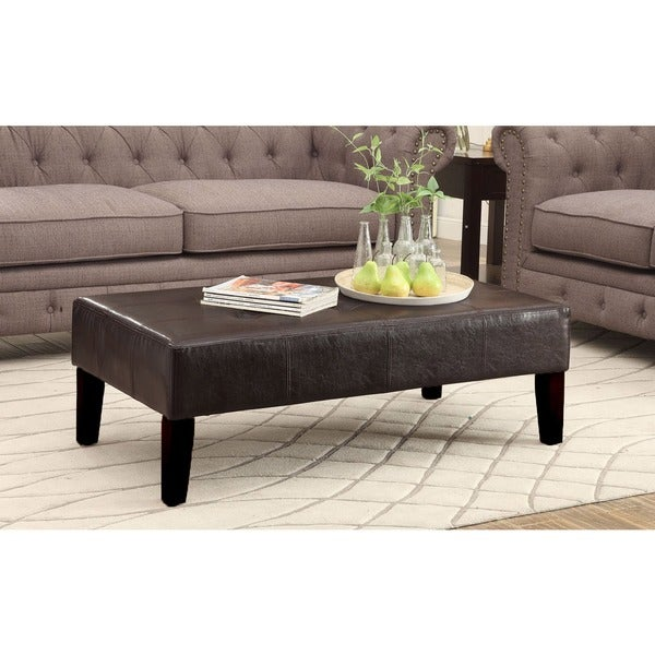 Faux Leather Large Coffee Table Free Shipping Today 19347257