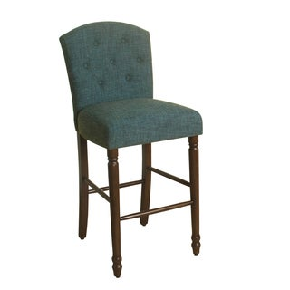 "HomePop Delilah Button Tufted Barstool Teal 29"" Bar Height"