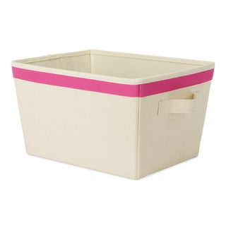 """Whitmor 6241-1501-PINK 10"""" L X 13"""" W X 7.5"""" H Small Rectangle Tote"""