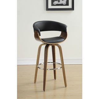 Coaster Company Walnut Base PU/ Wood Barstool