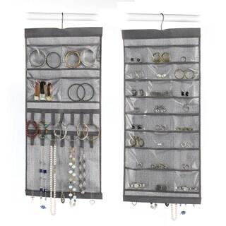 """Whitmor 6283-4895 13.5"""" W X 28.5"""" H Grey Hanging Jewelry Organizer"""