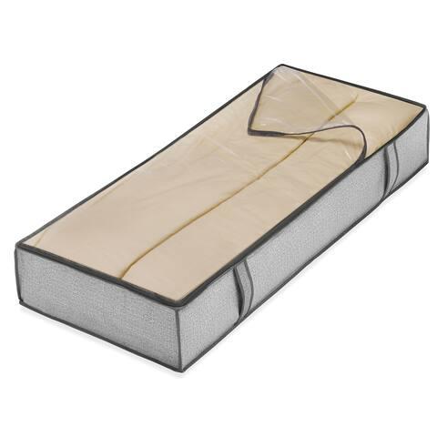 """Whitmor 6283-75 18"""" L X 42"""" W X 6"""" H Grey Underbed Storage Bag"""