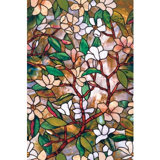 "Artscape 01-0113 24"" X 36"" Magnolia Design Window Film"