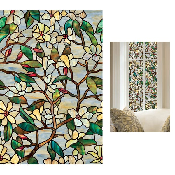 "Artscape 01-0142 24"" X 36"" Summer Magnolia Window Film"