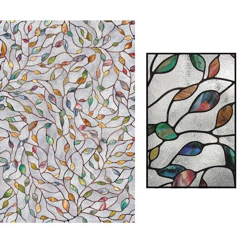 "Artscape 02-3021 24"" X 36"" New Leaf Decorative Window Film"