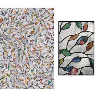"Artscape 02-3021 24"" X 36"" New Leaf Decorative Window Film"