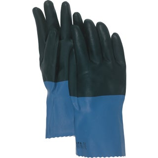 "Boss Gloves 34L 12"" Large Supported Neoprene Coated Chemical Gloves"