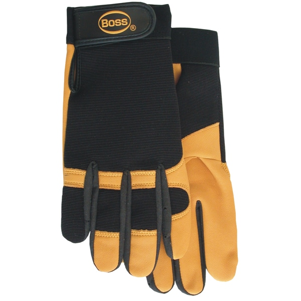 Boss Gloves 4048L Black & Gold Premium Goatskin Boss Guard Gloves