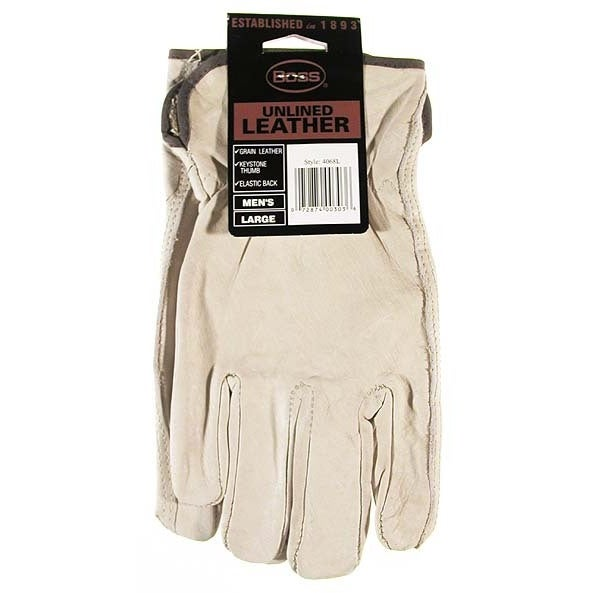 92a31cbac0b1f Shop Boss Gloves 4068L Large Premium Grain Unlined Leather Gloves - Free  Shipping On Orders Over $45 - Overstock - 12544847