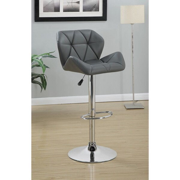 Coaster Company Silver Upholstered Adjustable Bar Stool