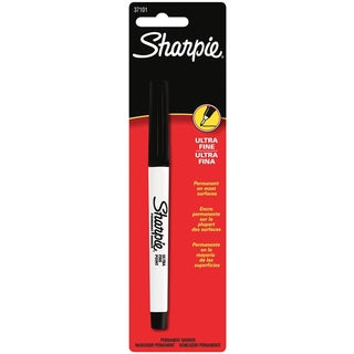 Sharpie 37101 Black Ultra Fine Point Sharpie Permanent Markers