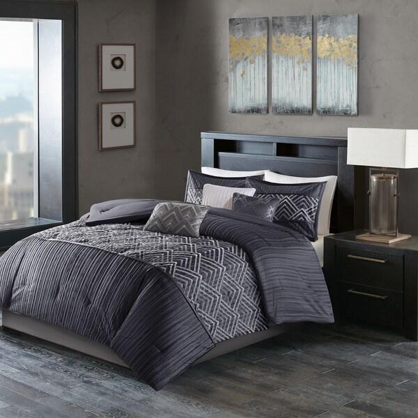 Madison Park Julien Blue Comforter Set
