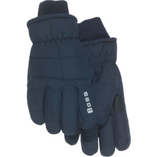 Boss Gloves 4232ML Large Navy Insulated Lined Poplin Gloves