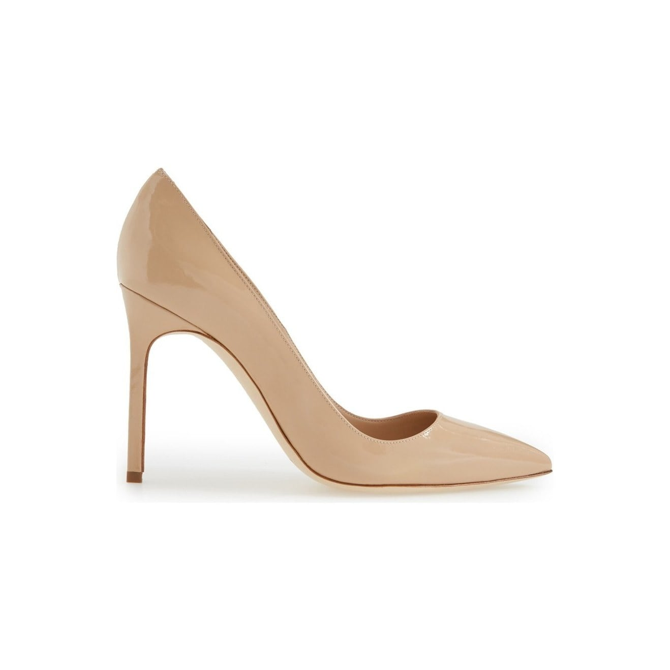 522d045450469 Shop Manolo Blahnik BB Nude Patent Leather Pumps - On Sale - Free Shipping  Today - Overstock - 12544876 - 5.5