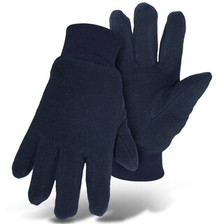 Boss Gloves 4405ML Large Navy Insulated Artic Fleece Gloves