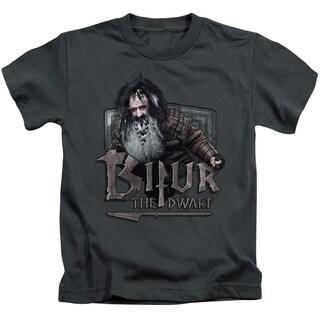 The Hobbit/Bifur Short Sleeve Juvenile Graphic T-Shirt in Charcoal
