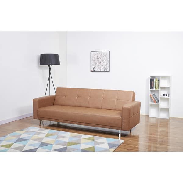 Stupendous Shop Cleveland Nutmeg Convertible Sofa Bed Free Shipping Short Links Chair Design For Home Short Linksinfo