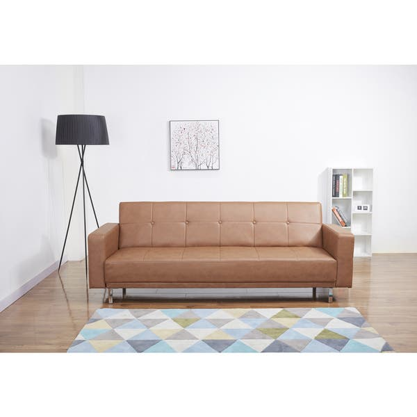 Miraculous Shop Cleveland Nutmeg Convertible Sofa Bed Free Shipping Short Links Chair Design For Home Short Linksinfo