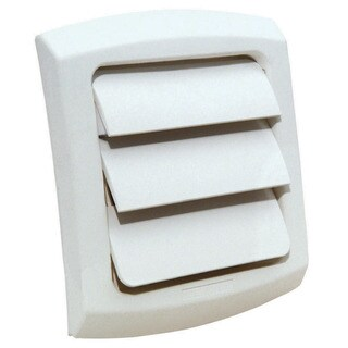 """Dundas Jafine LC3WX 3"""" White ProVent Louvered Exhaust Cap"""