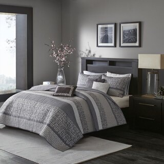 Madison Park Melody Grey/ Taupe Quilted Coverlet Set (2 options available)