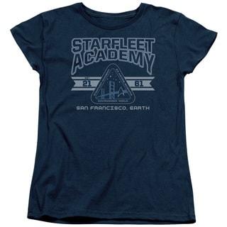 Star Trek/Starfleet Academy Earth Short Sleeve Women's Tee in Navy