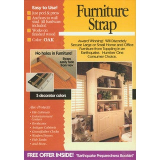 Quake Hold 4161 Oak Colored Original Double Furniture Strap