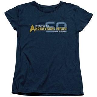 Star Trek/I Survived Short Sleeve Women's Tee in Navy