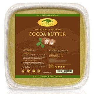 Bulk Raw 32 oz. Unrefined Organic Cocoa Butter