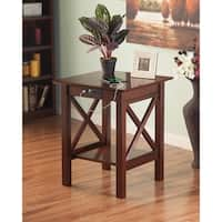 Atlantic Furniture Lexi Walnut Wood Printer Stand and USB Charging Station