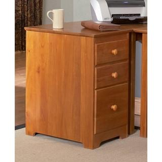 Atlantic Harvard Media Collection Caramel Latte Wooden 3-drawer File Cabinet