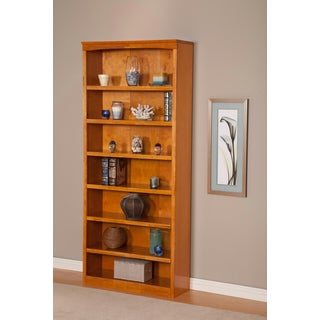Atlantic Harvard 84-inch Caramel Latte Wood Book Shelf