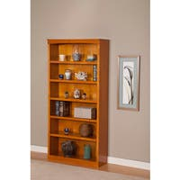 Atlantic Furniture Harvard Caramel Latte Wood 72-inch 6-shelf Bookshelf