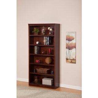 Atlantic Harvard Walnut-finished Wood 72-inch Book Shelf