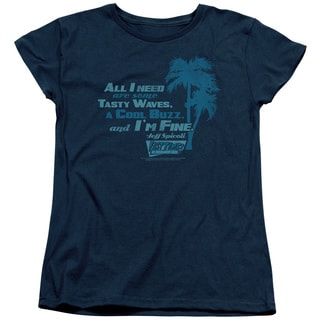 Fast Times Ridgemont High/All I Need Short Sleeve Women's Tee in Navy