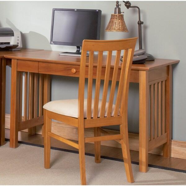 Atlantic Furniture Harvard Caramel Latte Wood Mission Desk with Drawer