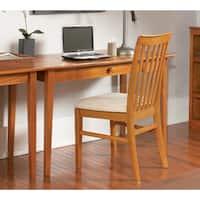 Atlantic Furniture Shaker Caramel Latte Wood Desk with Drawer