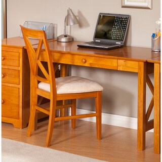 Atlantic Harvard Media Collection Lexi Caramel Latte Wood Desk with Drawer