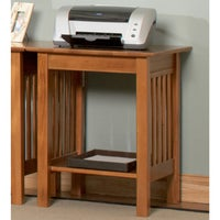 Atlantic Furniture Harvard Mission Caramel Latte Wood Printer Stand