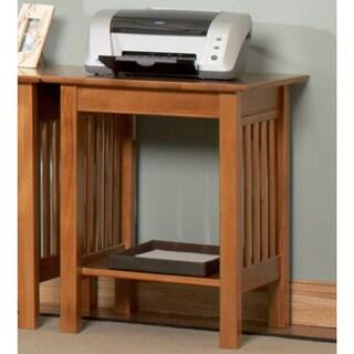 Atlantic Furniture Harvard Mission Caramel Latte Wood Printer Stand