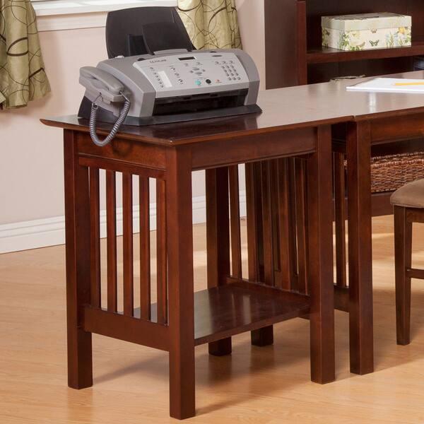 Atlantic Furniture Mission Walnut Wood Printer Stand