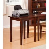 Atlantic Furniture Shaker Walnut Wood Printer Stand