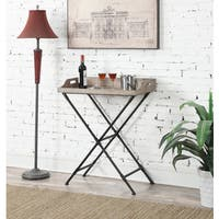 The Curated Nomad MacKenzie Folding Serving Bar Cart