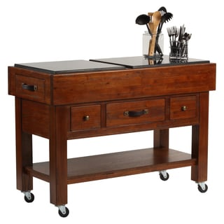 Hillsdale Furniture Outback Chestnut/Bronze Wood Kitchen Island