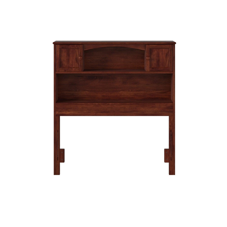 Atlantic Furniture Newport Bookcase Headboard Twin Walnut...