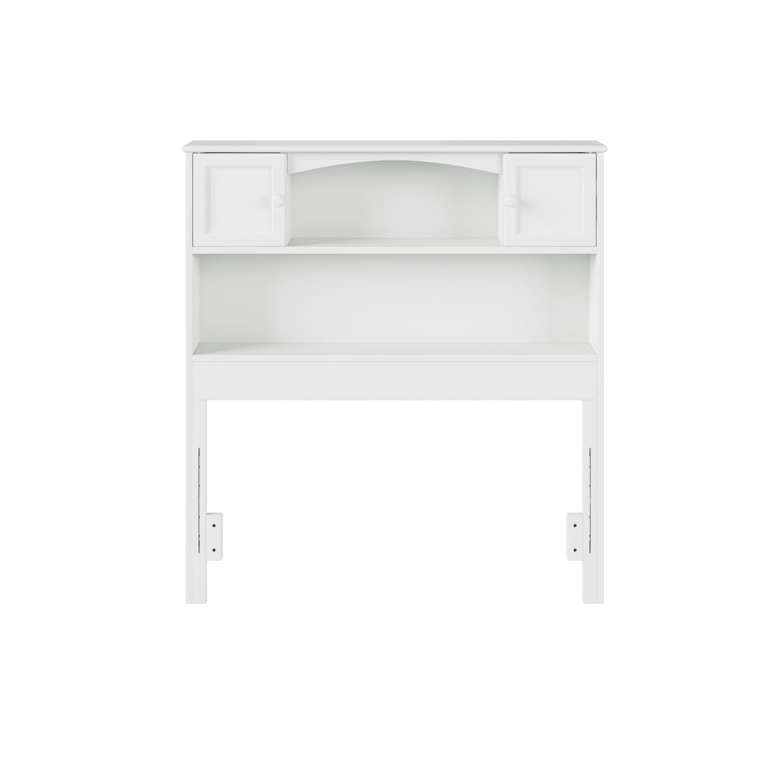 Atlantic Furniture Newport Bookcase Headboard Twin White ...