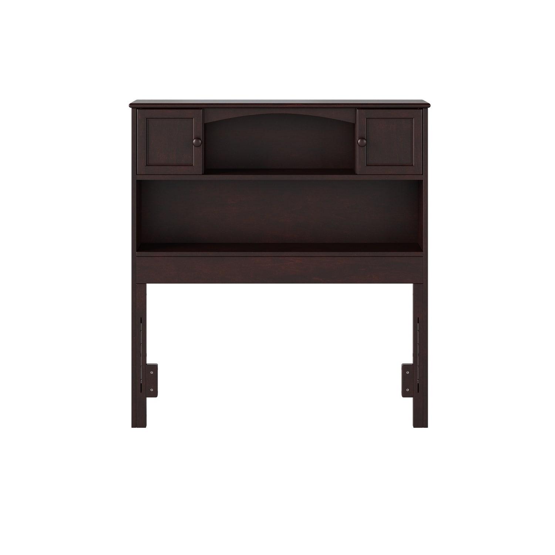 Atlantic Furniture Newport Bookcase Headboard Twin Espres...