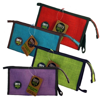 Onyx And Blue Corporation 7205 Jute Pencil Pouch Assorted Colors