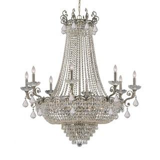 Crystorama Majestic Collection 20-light Historic Brass/Swarovski Strass Crystal Chandelier