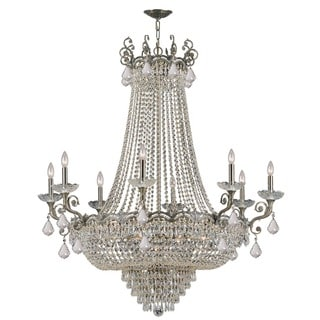 Crystorama Majestic Collection 20-light Historic Brass/Crystal Chandelier